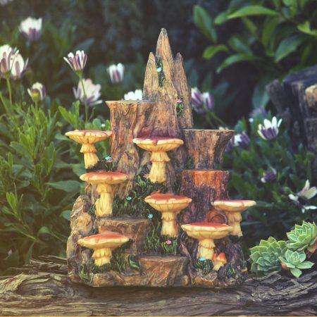 fairy toadstool garden