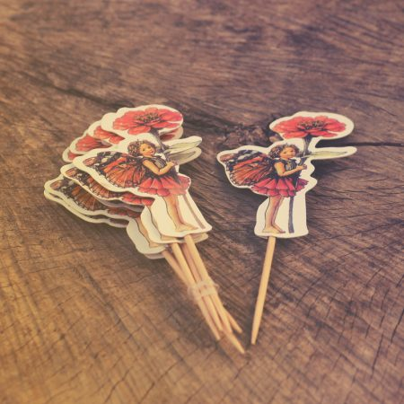 flower fairy cupcake toppers