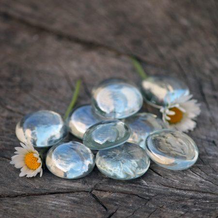 glass stones fairy garden