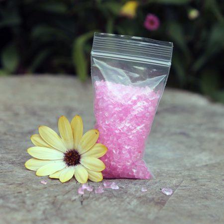 pink glitter gravel
