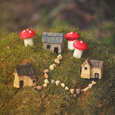 micro houses fairy garden