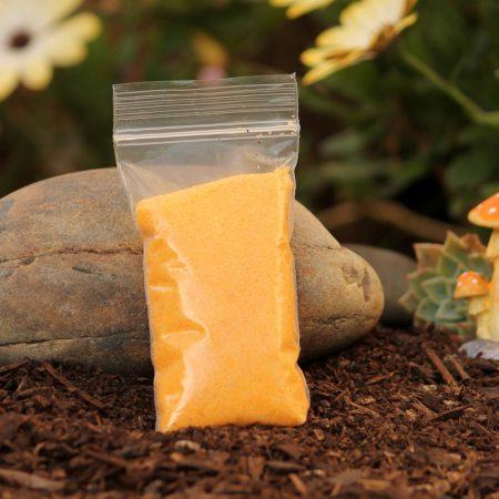 orange sand micro landscape