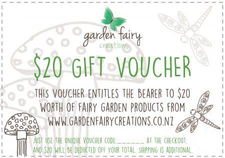 fairy garden gift voucher