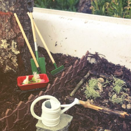 miniature garden tools