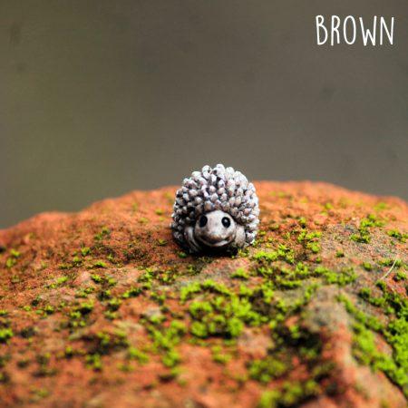 micro hedgehog fairy garden