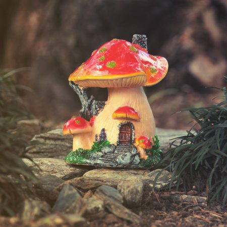 red mushroom house
