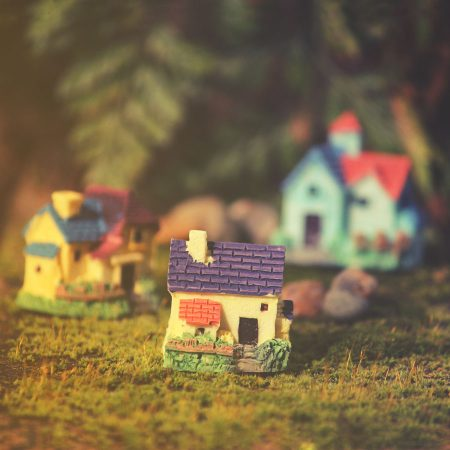 miniature resin cottage