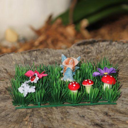 blue fairy garden set