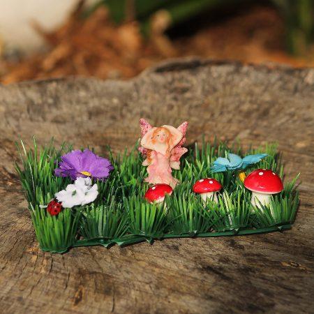 pink fairy garden set