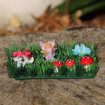 purple fairy garden set