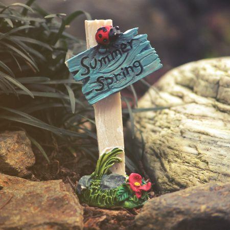 fairy garden signpost