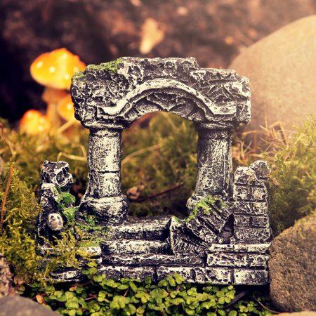 old ruins archway fairy garden