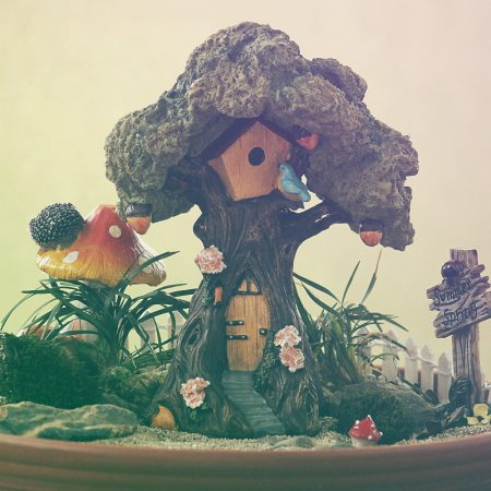 fairy tree house 18cm