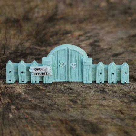 blue fairy garden gate