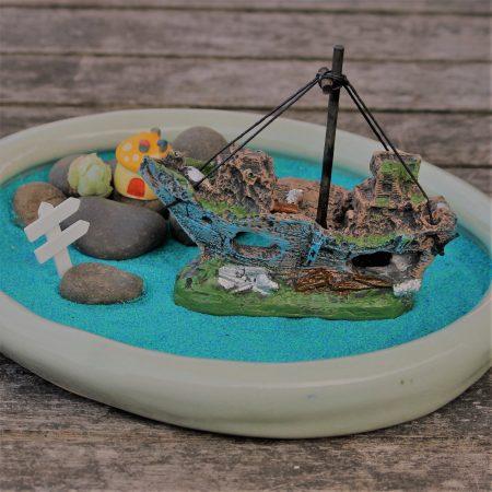 fairy garden shipwreck