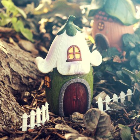led fairy house