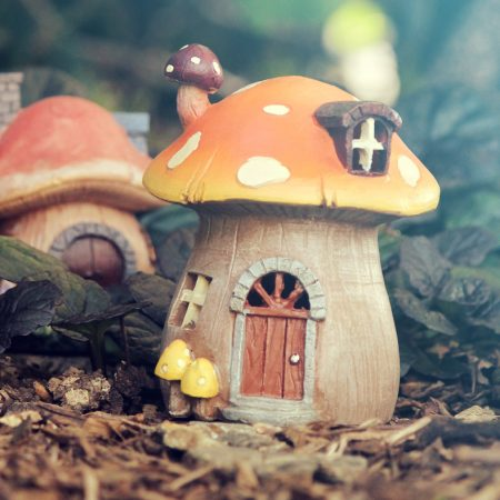 LED toadstool house