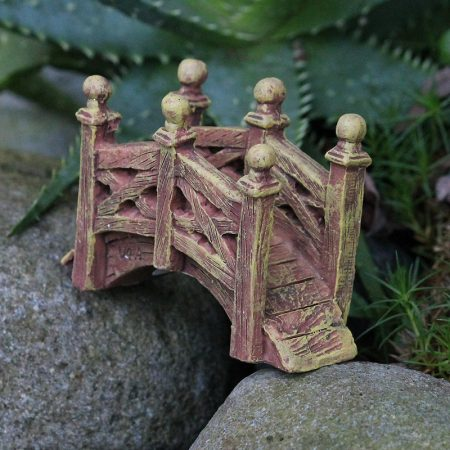 fairy garden rustic bridge