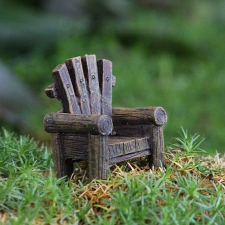 fairy garden rustic chair