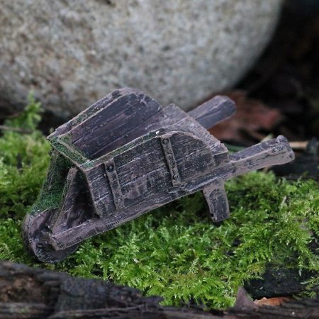 fairy garden rustic wheelbarrow