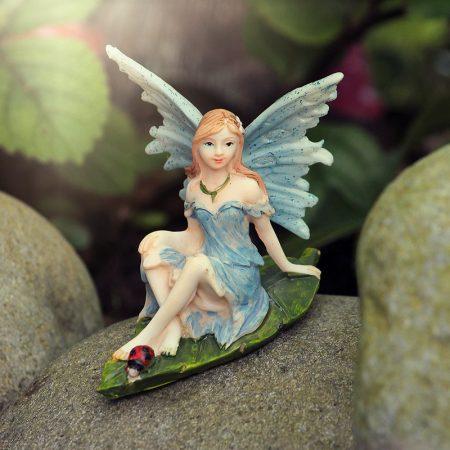 blue fairy figurine